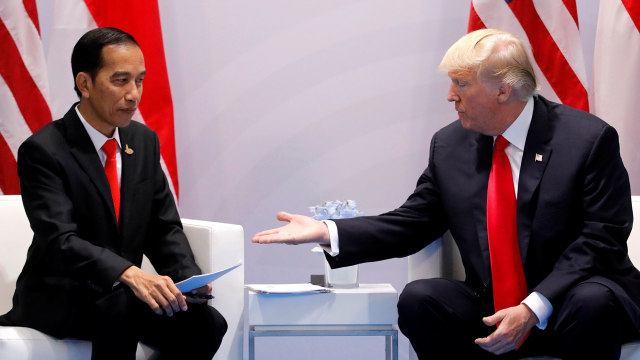 Jokowi dan Trump di KTT G20