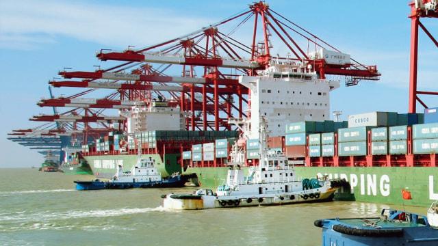 Pelabuhan Nansha, Guangzhou, China