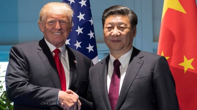 Donald Trump dan Xi Jinping di KTT G20