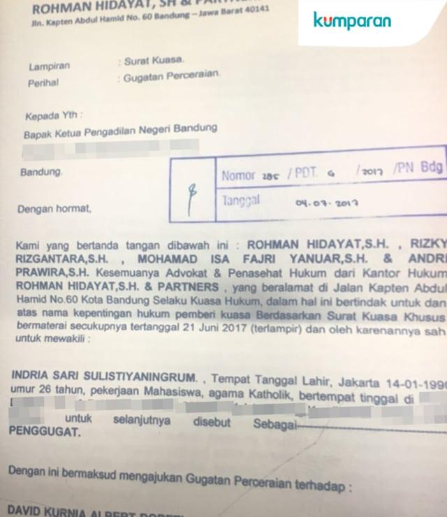 Menyimak Drama Perceraian Gracia Indri Dan David Noah Kumparan Com