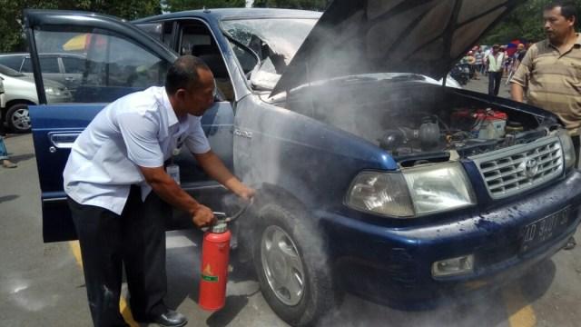 Mobil korban ledakan powerbank