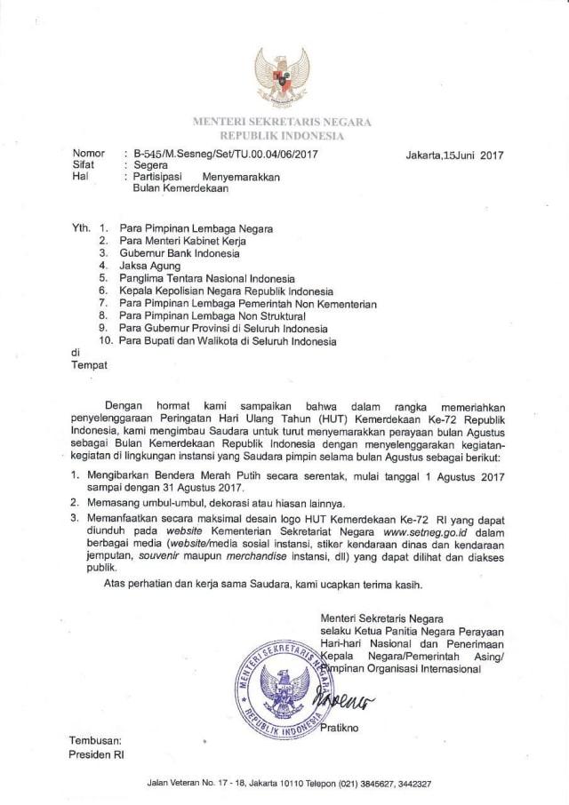 Surat Edaran 17 Agustus 2019 Free Hd Wallpapers And 4k