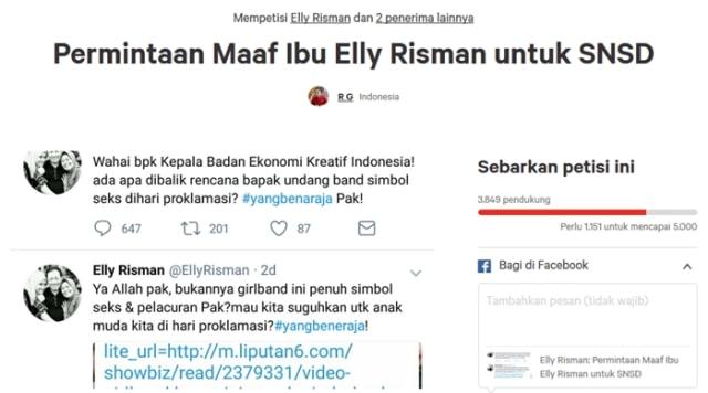 Fans SNSD Tuntut Permintaan Maaf Elly Risman (103063)