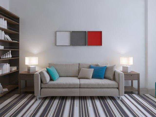 Com-Pilih Karpet Garis-Garis