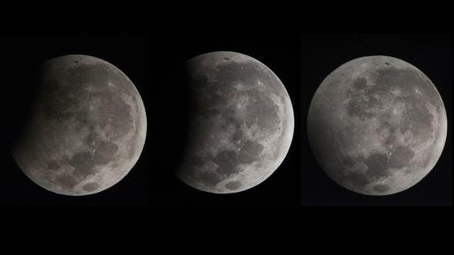 Gerhana bulan sebagian di Bali