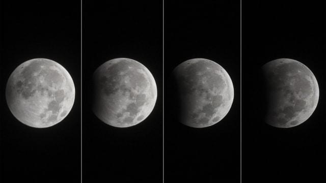 Gerhana Bulan Sebagian dari Surabaya