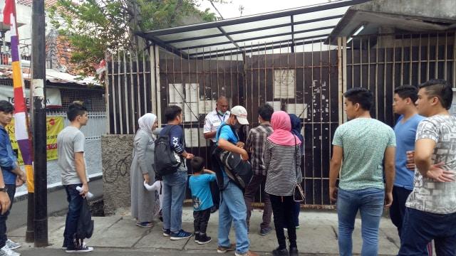 Para pengungsi pencari suaka di Kebon Sirih