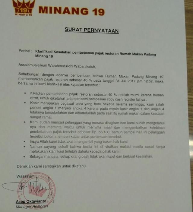 Klarifikasi Restoran Di Rest Area 19 Tol Cikampek Soal Ppn