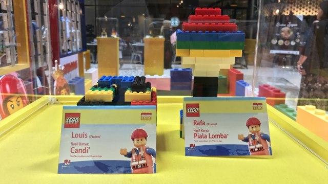 Rayakan HUT RI ke-72, 3.500 Lego Dibentuk Jadi Lambang Burung Garuda (502105)