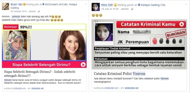 Kuis di Facebook (NOT COVER)