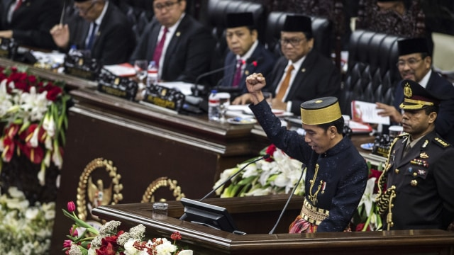 Jokowi dalam sidang tahunan MPR/DPR