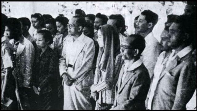Suasana Proklamasi Kemerdekaan Indonesia 1945