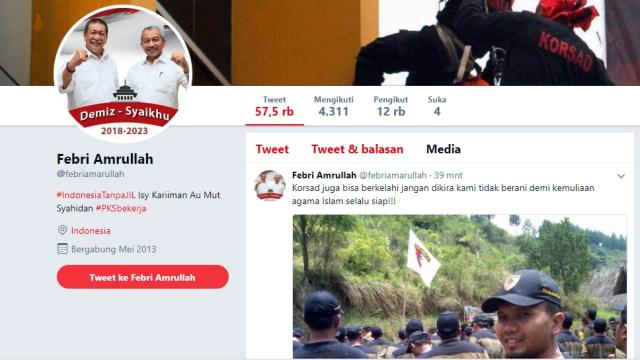 PKS Geram dengan Akun Twitter Febri Amrullah (41299)