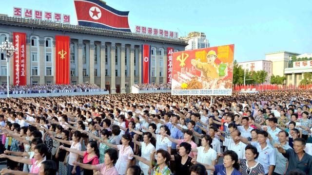 Suasana kota Pyongyang, Korea Utara