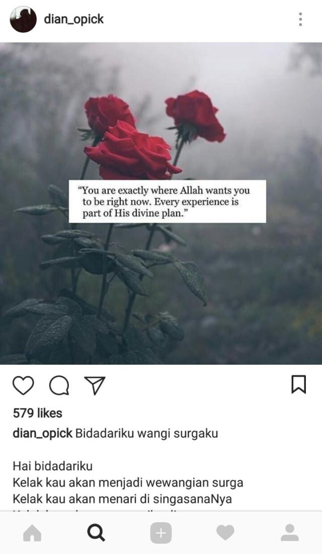 Puisi Puisi Istri Opick Dan Isyarat Kegundahan Hati Soal Isu