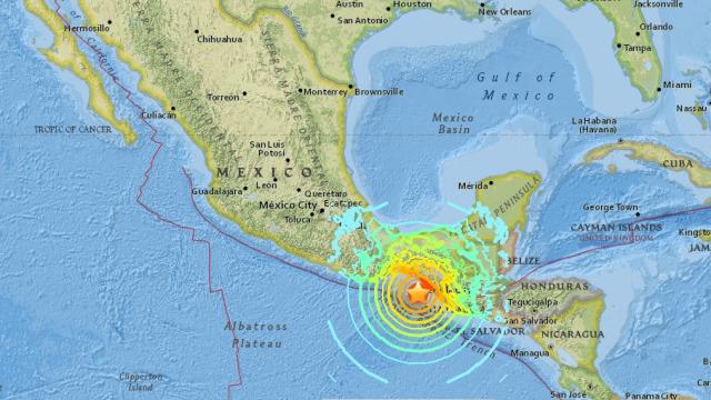 Pusat titik gempa di Meksiko