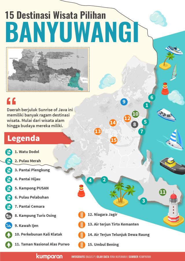 15 Destinasi Wisata Pilihan di Banyuwangi (53230)