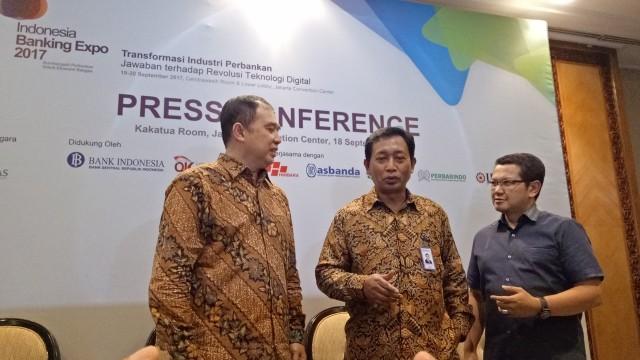 Konpers acara Indonesia Banking Expo (IBEX) 2017.