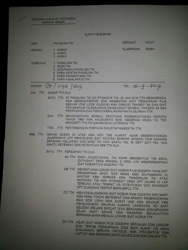 Panglima TNI Ungkap Alasan Beri Perintah Pemutaran Film G30S/PKI (313945)