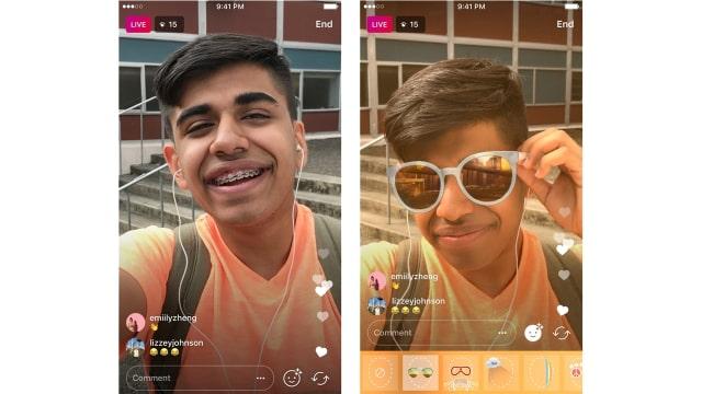 Filter Wajah Saat Live Instagram