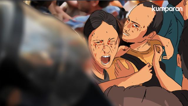 Ilustrasi korban tawuran