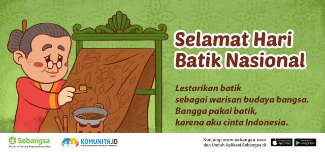 Selamat Hari Batik Nasional 2017 Kumparan Com