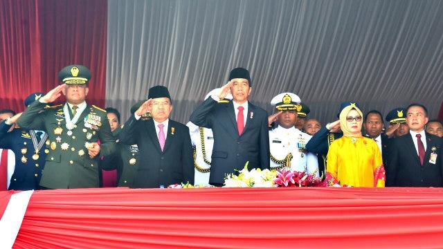 Jokowi di Peringatan HUT ke-72 TNI