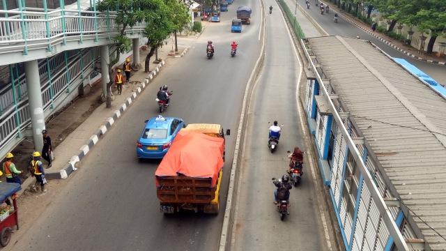 Pelanggaran lalu lintas di kawasan Pasar Rumput
