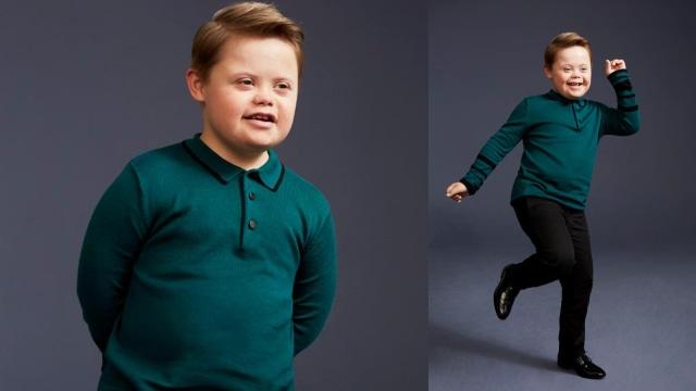 Anak Down Syndrom jadi Model Baju