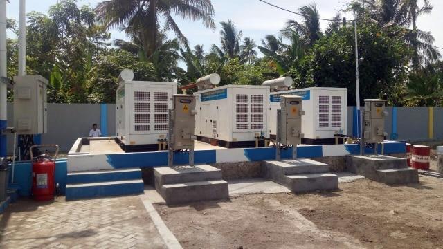 Acara peresmian mesin tambahan PLTD Lampung