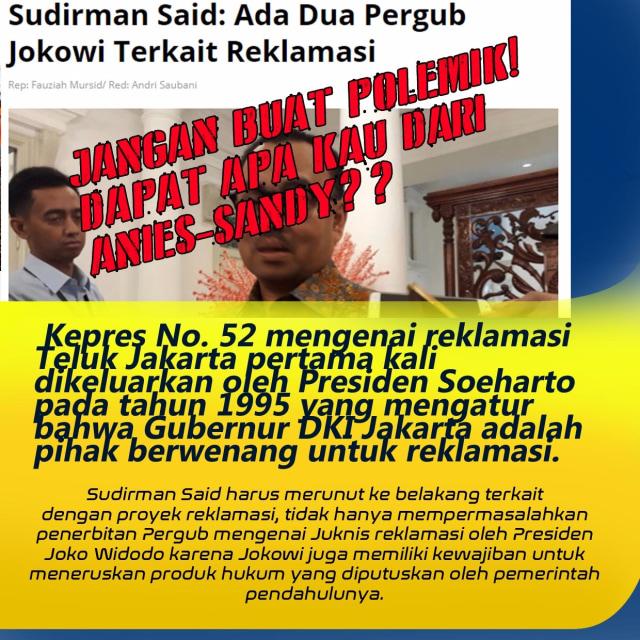 Ternyata Sudirman Said Tak Paham Produk Hukum Tentang Reklamasi Teluk Jakarta (23834)