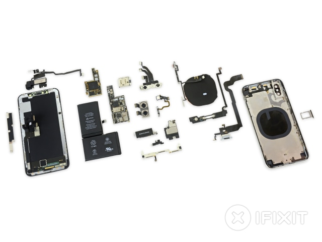 Rangkaian komponen iPhone X
