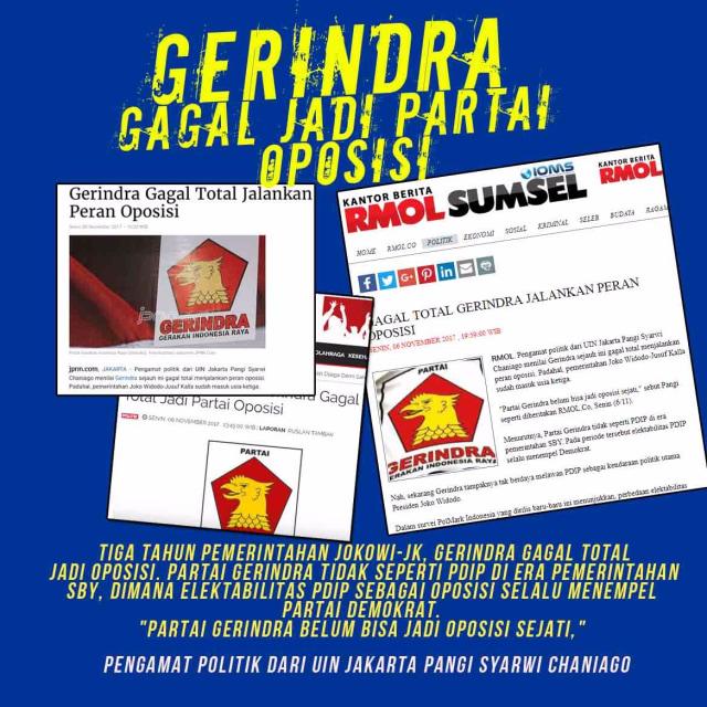 Partai Gerindra Gagal Jadi Oposisi  (695)
