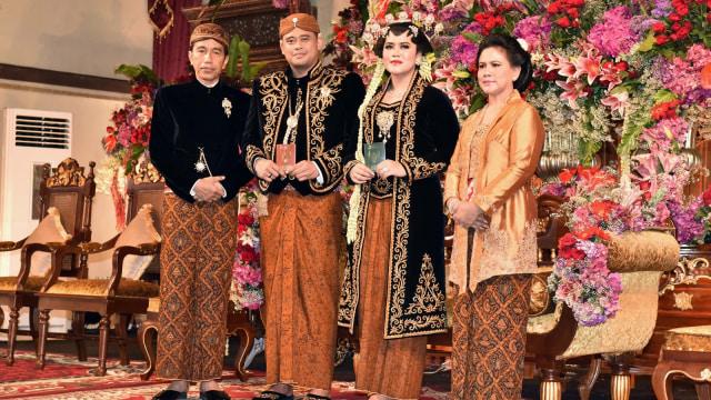 Jokowi, Bobby, Kahiyang, Iriana