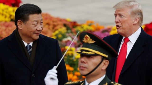 Donald Trump dan Presiden China Xi Jinping