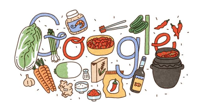 Google Doodle Rayakan Hari Kimchi