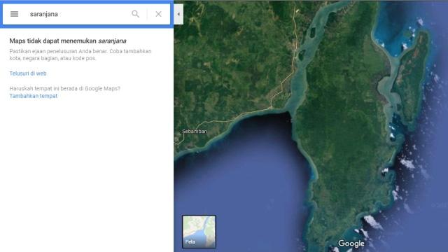 Lokasi Saranjana di google maps