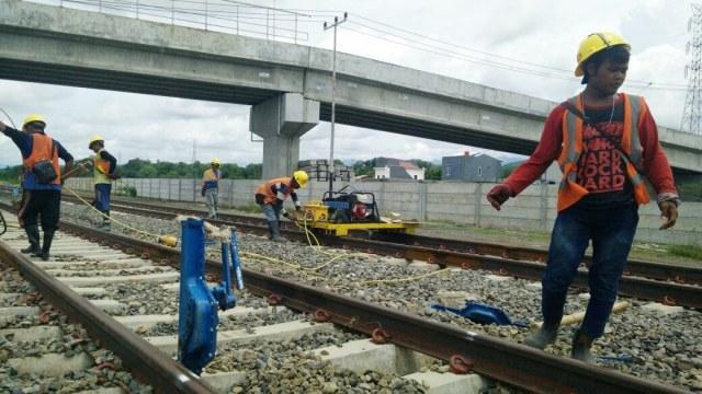 Progres Pembangunan Jalur KA Makassar-Parepare