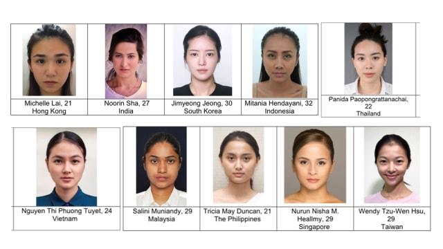 10 Perempuan Golden Ratio Asia