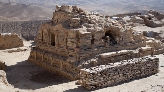 Ilustrasi Peninggalan Arkeologis di Afganistan