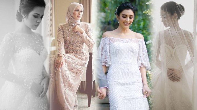 7 Gaun Pernikahan Artis Paling Memikat Sepanjang 2017 Kumparan Com