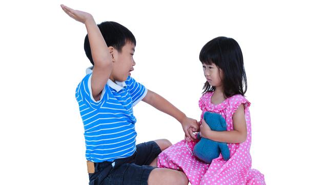 Ilustrasi perilaku agresifitas pada anak
