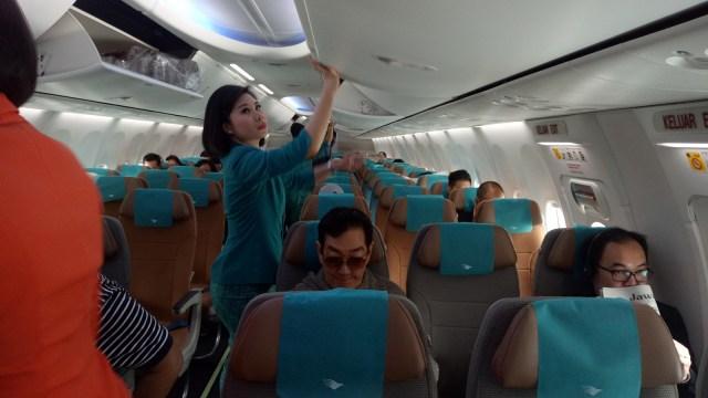 Suasana di dalam pesawat Boeing 737 max 8