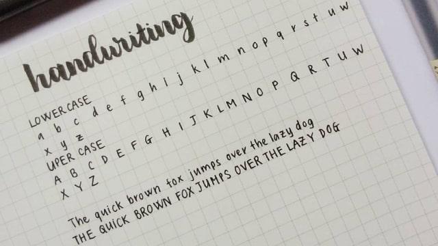 Ilustrasi tulisan tangan