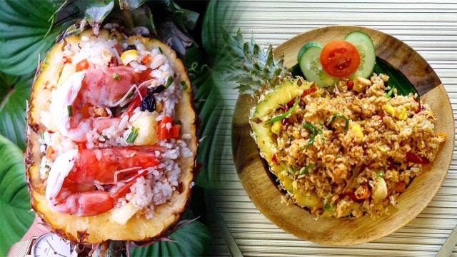 Nasi goreng nanas khas Thailand