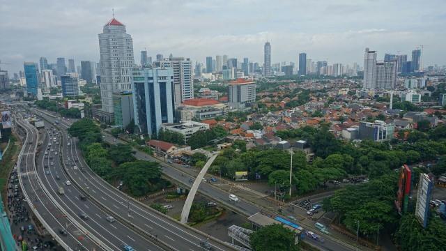 Foto dari Udara: Flyover Peredam Macet di Pancoran (28801)