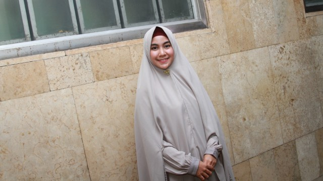 Anisa Rahma di Mesjid Istiqal