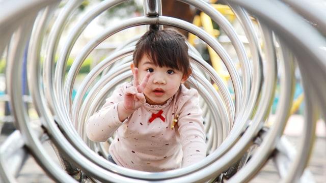 Anak di tempat bermain