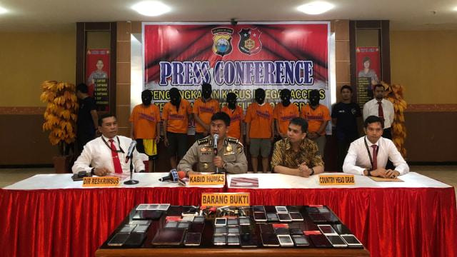 Konferensi Pers Grab dan Polda Sulawesi Selatan