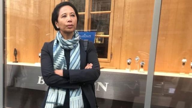 Menteri BUMN Rini Soemarno di Zurich.